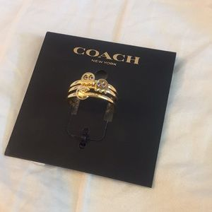 Coach Pacman stack rings set